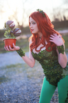 Poison ivy. Cosplay.