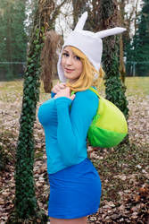 Adventure time, fionna cosplay