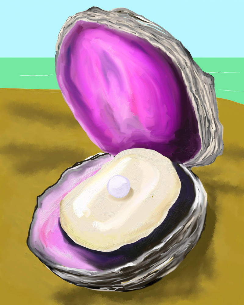 Clam With A Pearl Earring by katiejo911 on deviantART