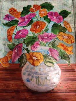 Still Life Flowers Resin
