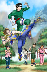 Chun Li vs Rock Lee