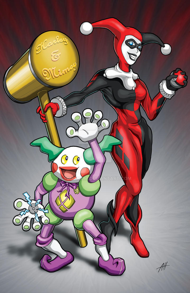 Harley Quinn and Mr. Mime by Admahum