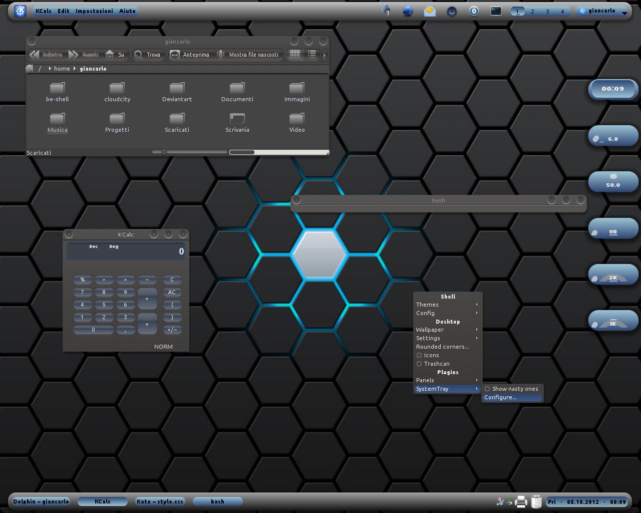 Blue_Inside BE::Shell Screenshot by giancarlo64