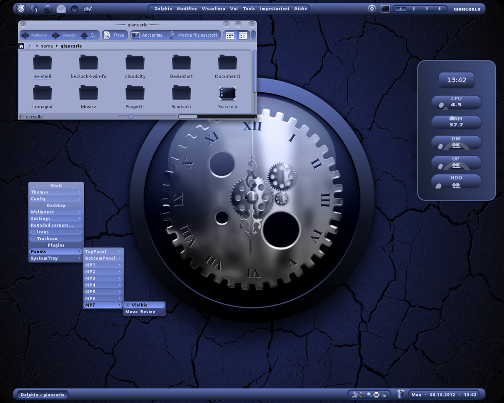 Deep_Blue BE::Shell Screenshot by giancarlo64