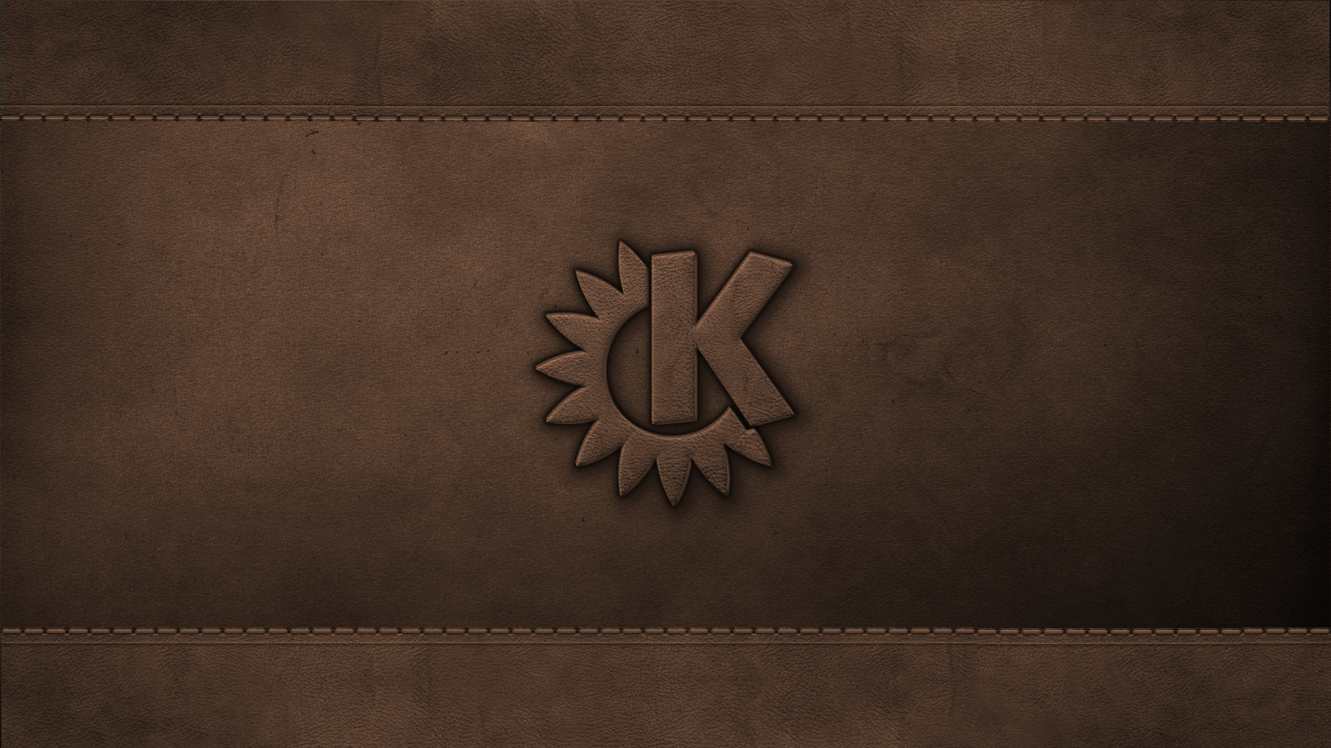 KDE on Leather Wallpaper by giancarlo64