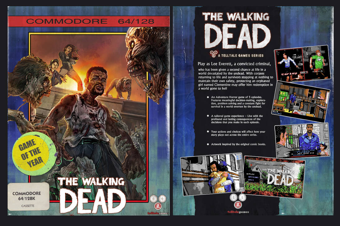 Walking Dead game for the Commodore 64! by NickBounty on