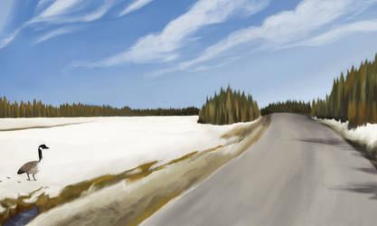 Finland virtual plein air by MinaHorse