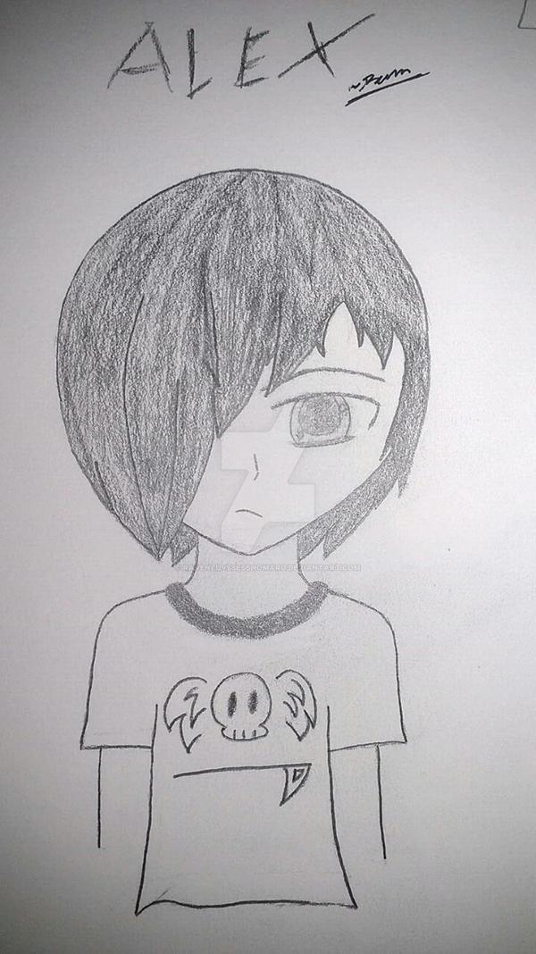 Alex Sketch 2 by RavenluvsSesshomaru