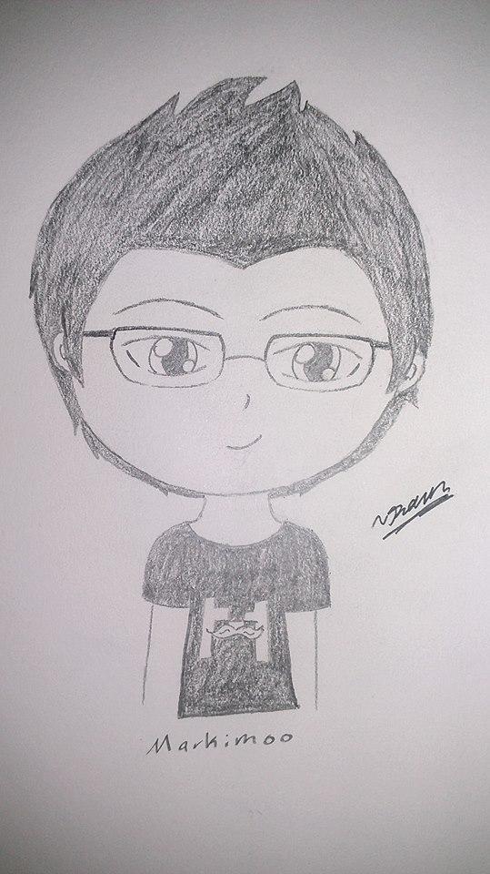 Markiplier Sketch by RavenluvsSesshomaru