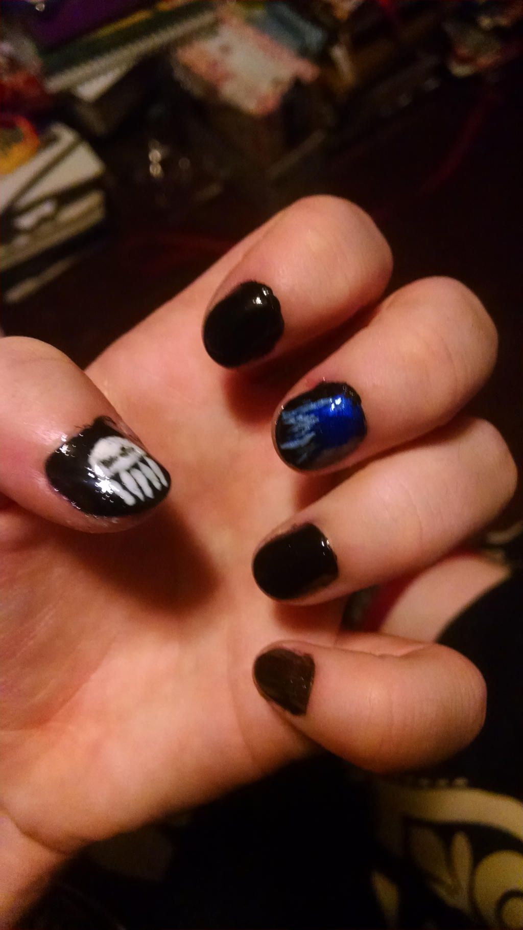 Hades nails! by RavenluvsSesshomaru on DeviantArt