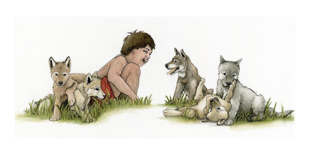 JungleBK Mowgli and Wolves