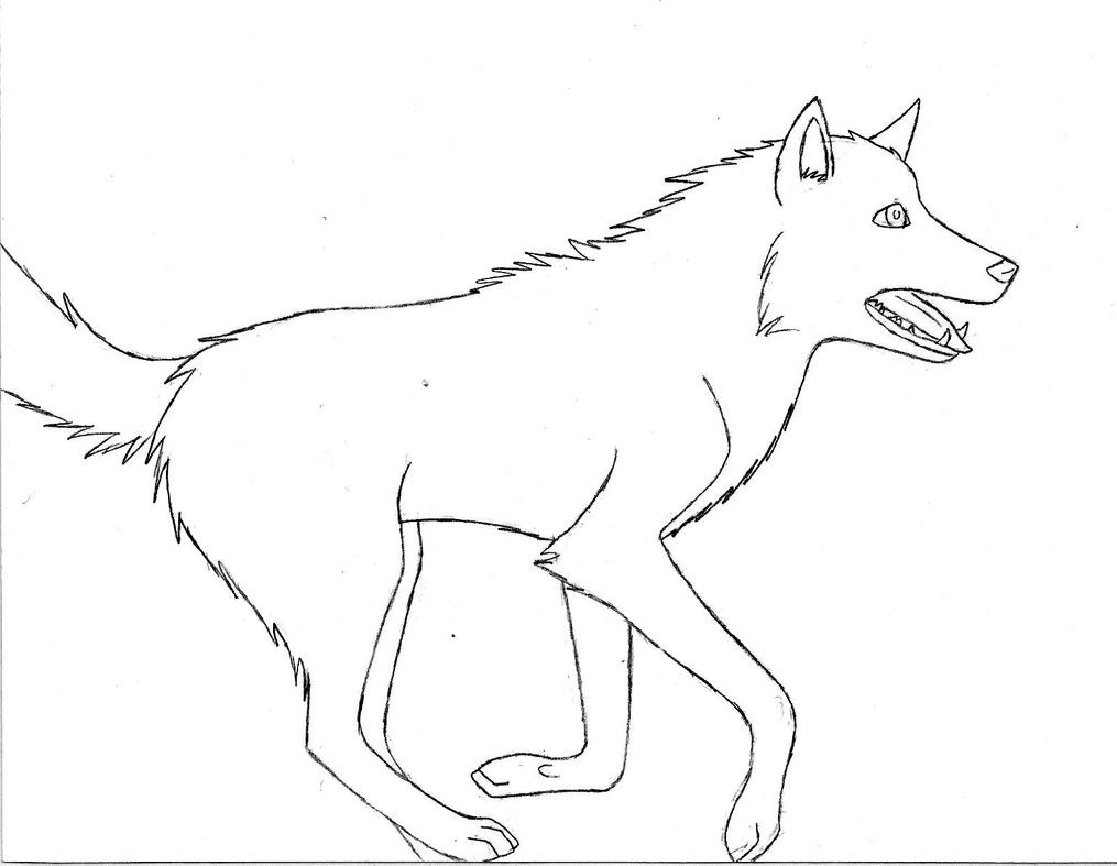 How To Draw A Wolf Running Towards You Running Wolf Drawing Tigereyes 2017  Dec 22 2015