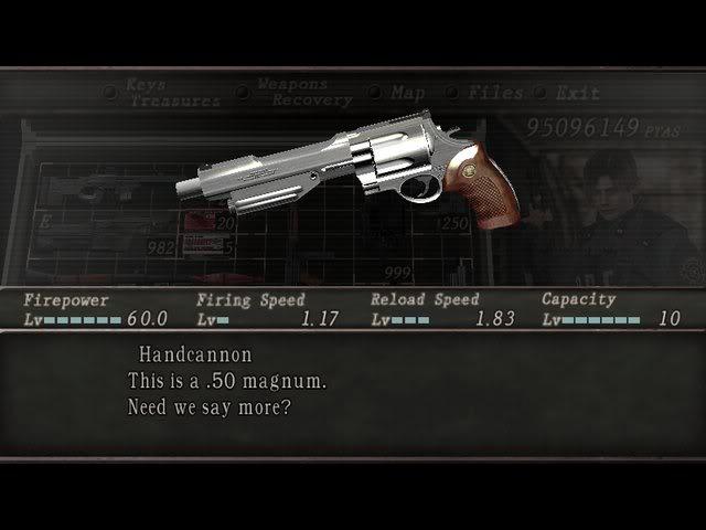 desbloquea las armas infinitas de resident evil 4 ps2