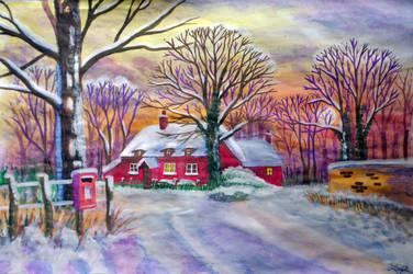 Winter down the road by vendoritza