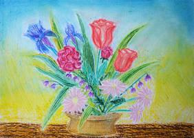 Pastel4 - Flower Pot
