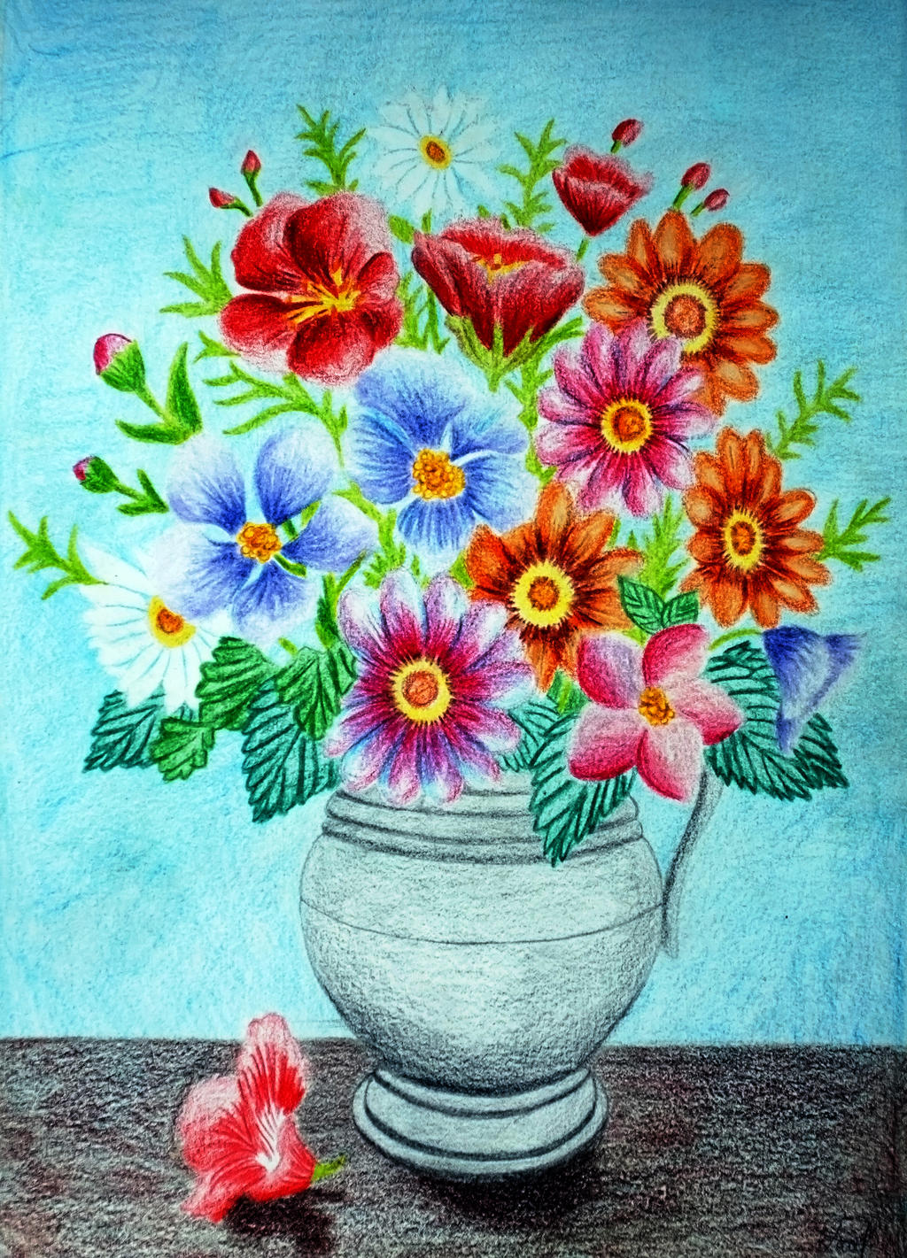 Flower vase in colored pencils ii by vendoritza on deviantart flower vase in colored pencils ii by vendoritza reviewsmspy