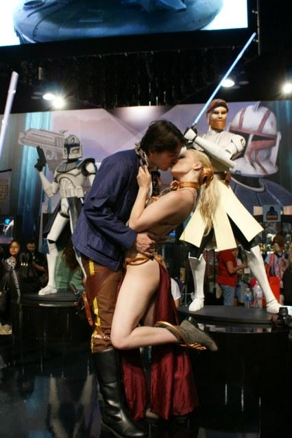 Han and Leia costumes, SDCC by RebelAllianceBarbie
