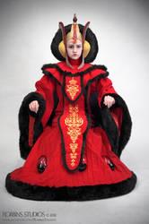 Amidala Throne Room Invasion costume sitting