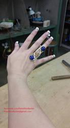 Leia ring replica, Star Wars TFA by RebelAllianceBarbie