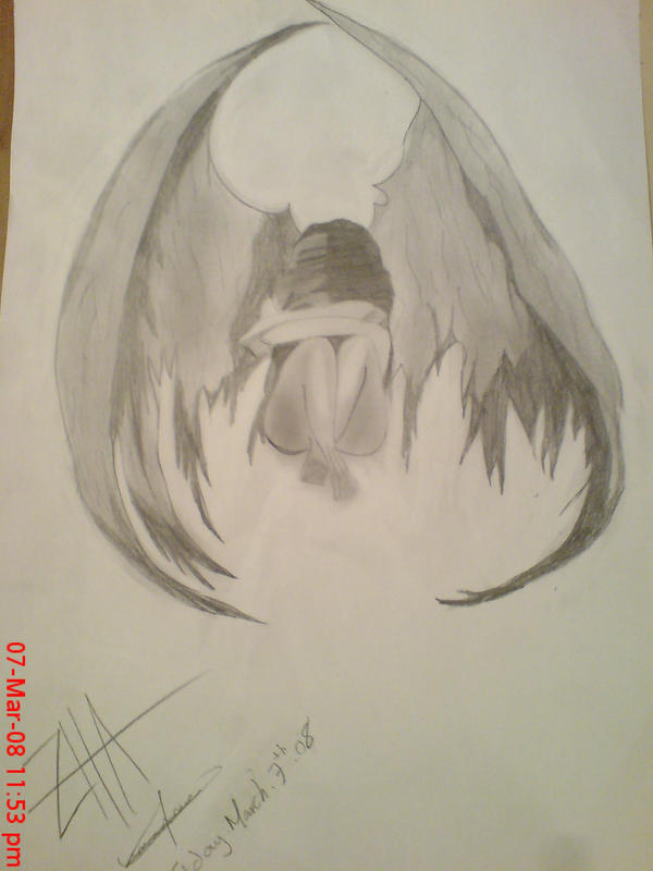depressed angel drawings - photo #40