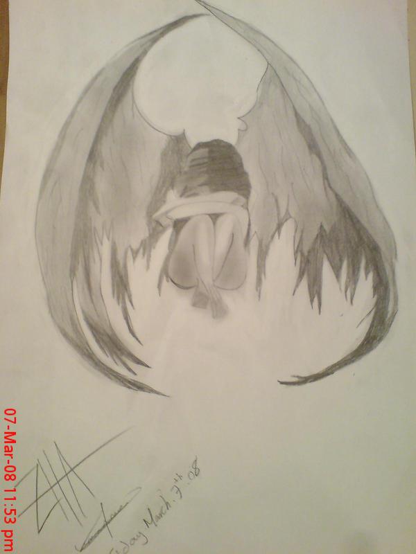 depressed angel drawings - photo #40