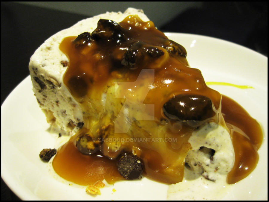 Ice cream + Butterscotch Sauce by Zabboud on DeviantArt