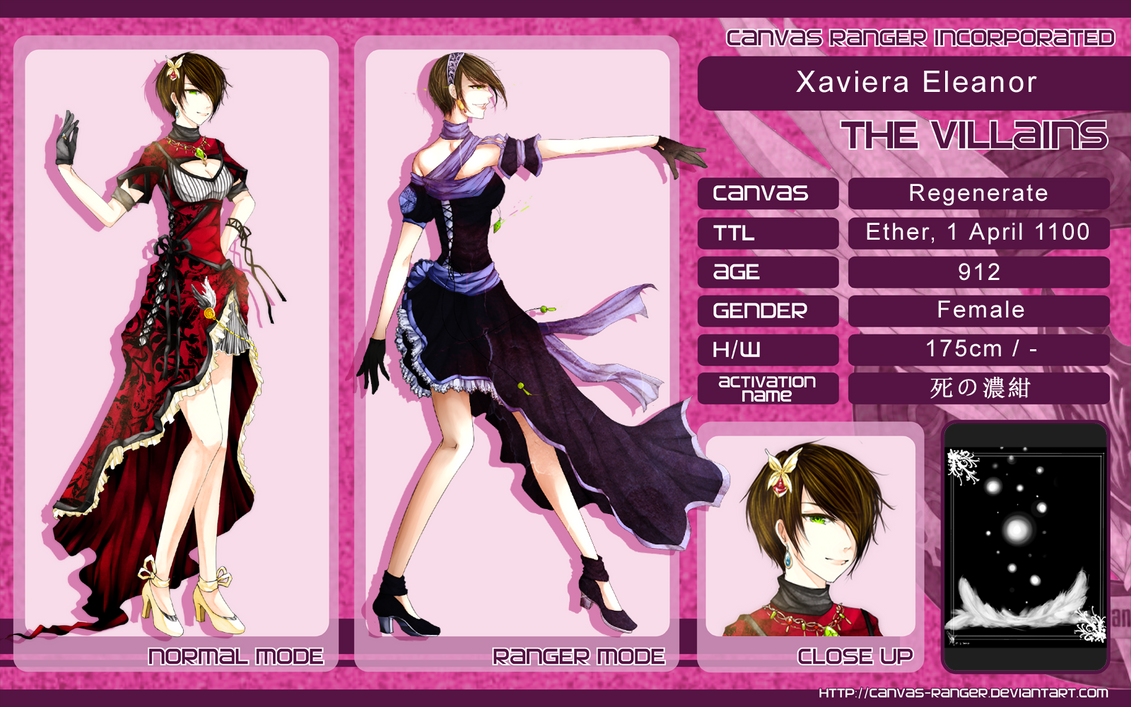 CR Chara Sheet: Xaviera Eleanor by IvyLiau