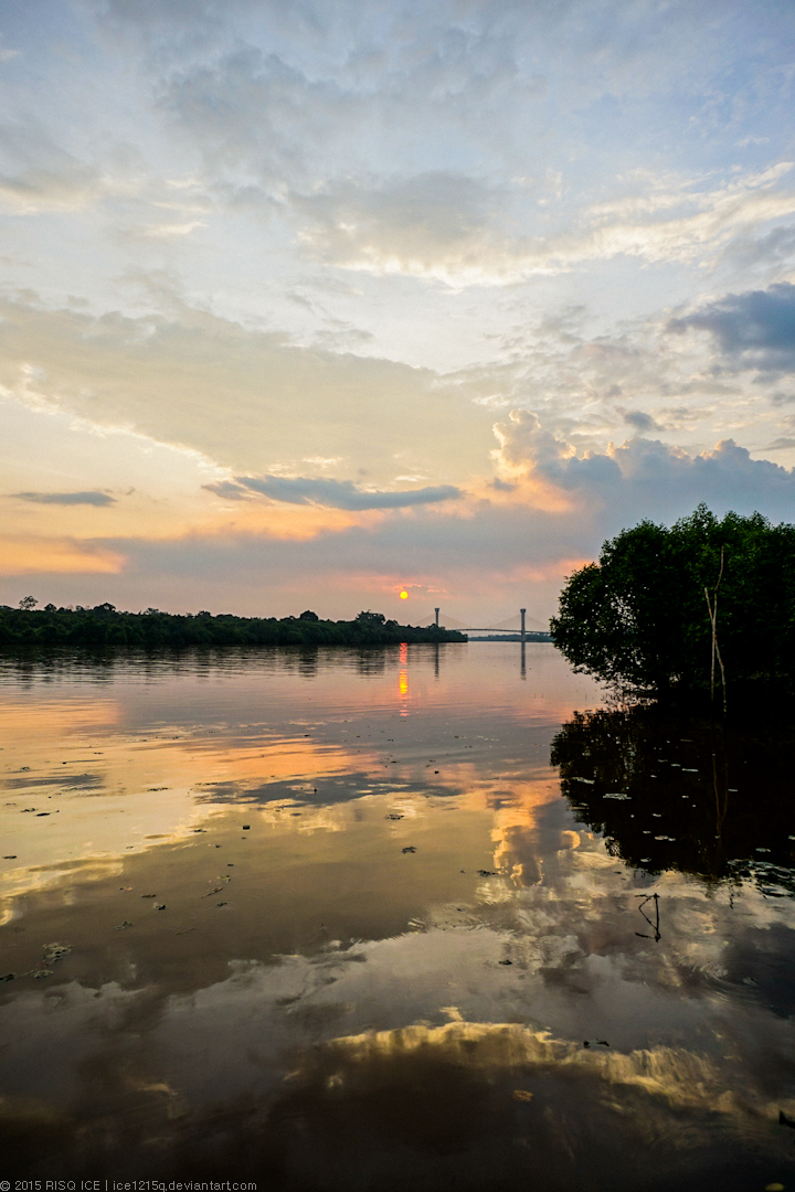 Siak Bridge in the Sunset by ice1215q