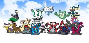 isshu pokemons BEAST
