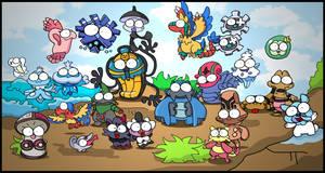 isshu pokemons BEAST 3 -beach by c4tman