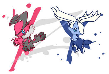 rite?POKEMON Y + X legendaries by c4tman