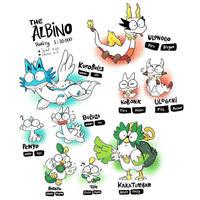 albino starters