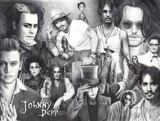 Ballpen Art - Johnny Depp by ArtisAllan