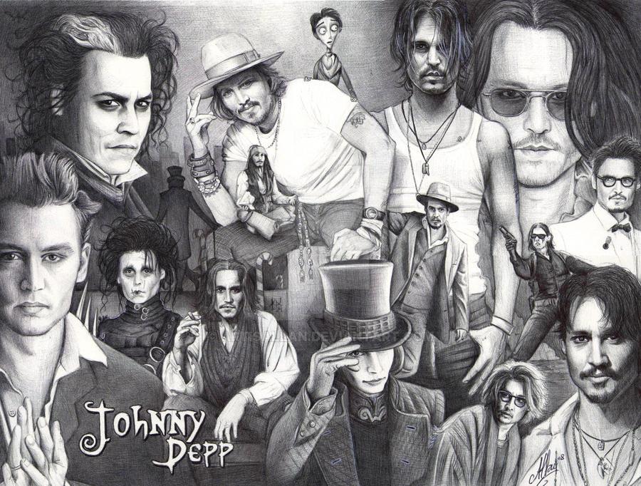 Ballpen Art Johnny Depp By Artisallan On Deviantart