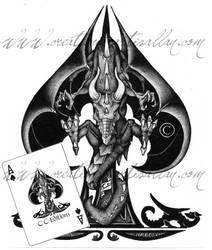 Dragon Ace of spade by ArtisAllan