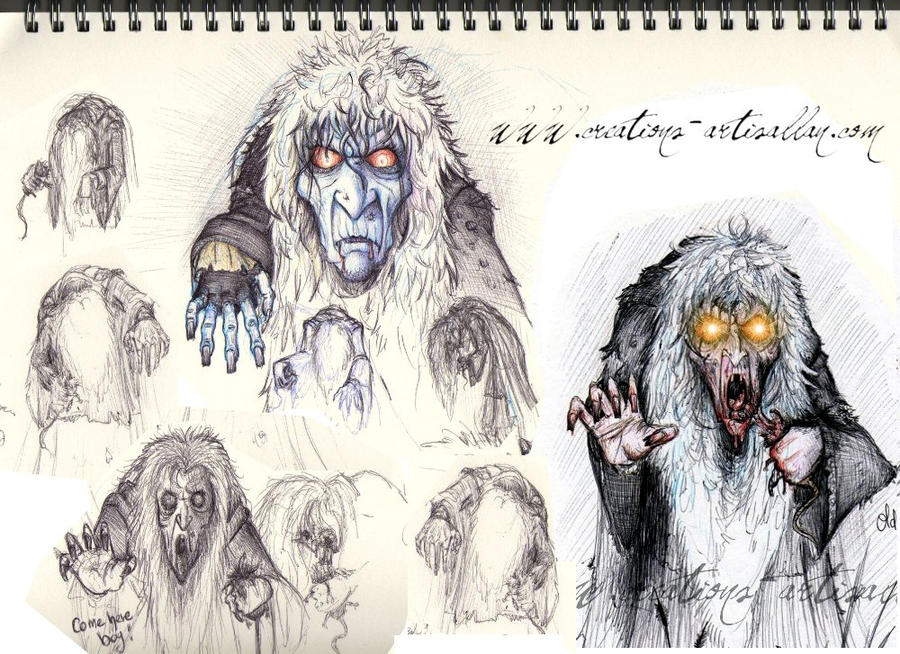 Sketch of Old Mother Malkin by ArtisAllan