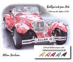 Ballpoint pen red car