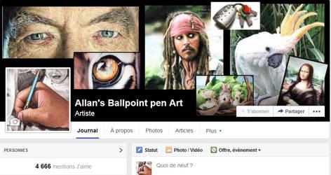Allan's ballpoint pen Art by ArtisAllan