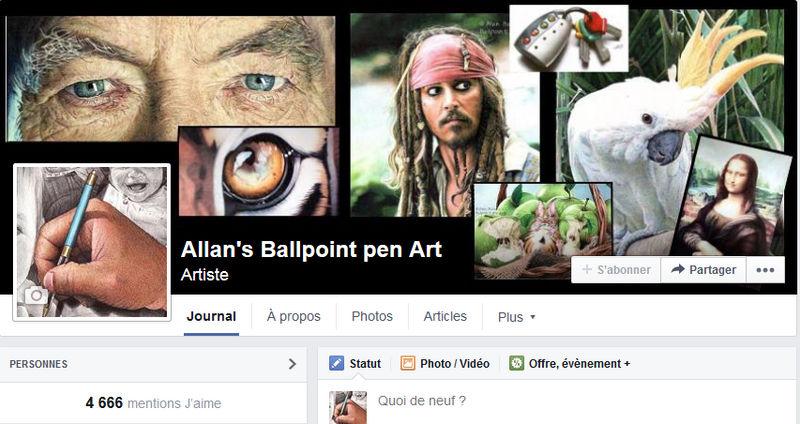 Allan's ballpoint pen Art