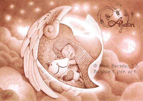 Ballpoint pen art : Aydan