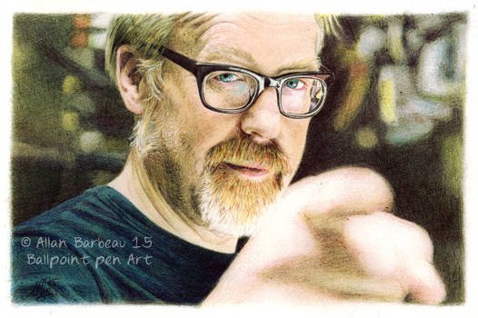 Adam Savage -Ballpoint pen Art