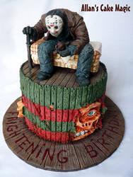 Jason VS Freddy Cake by ArtisAllan