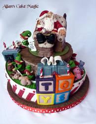 Santa's toy factory cake by ArtisAllan