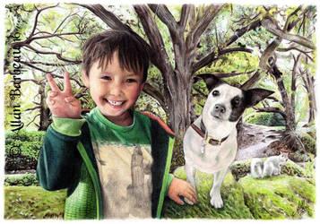 Alfie and Kewpie by ArtisAllan