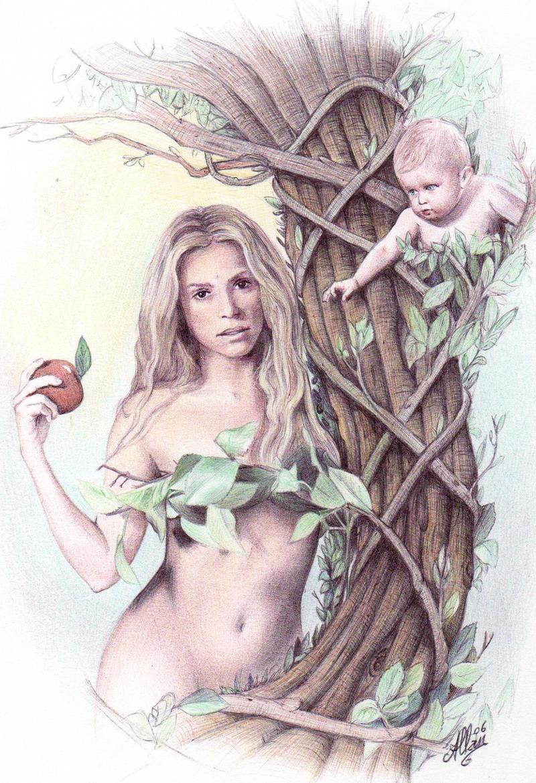 Ballpoint pen art - Shakira