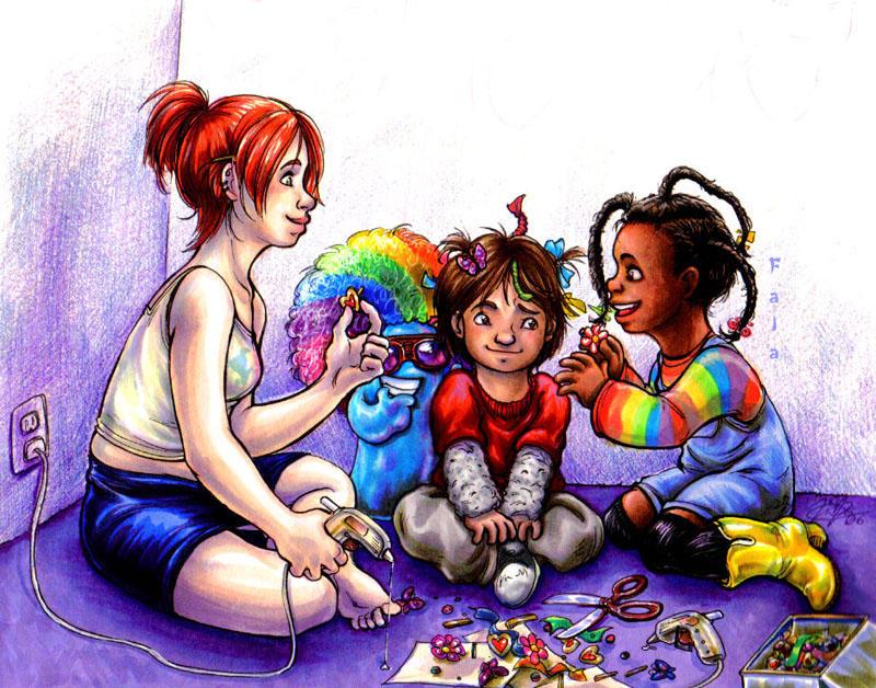 Mac and His Girls by princefala