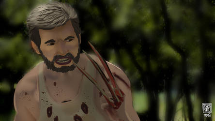 Cinematography painting practice - Logan Wolverine by SNN95