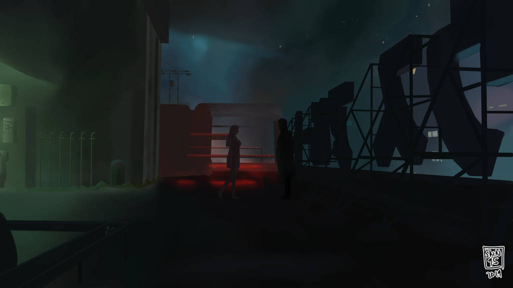 Cinematography painting practice - Blade Runner by SNN95