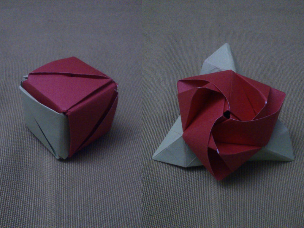 origami transforming rose by andrescuccaro on deviantart