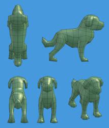 Lowpoly Dog - WIP